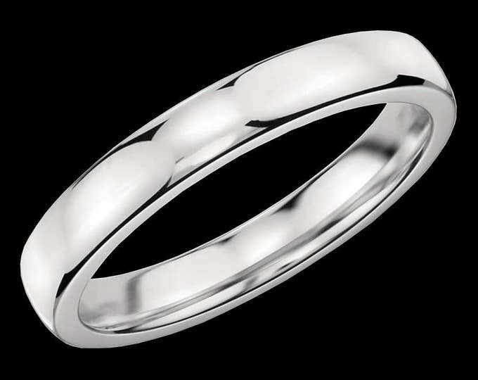 Classic Platinum Reflections In A High Polished Comfort Fit Wedding Band By C. L. Lewis (3MM)  #C103