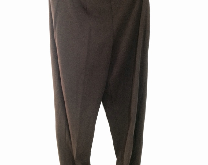 Women's Brown Dress Pants, Part of a Three Piece Set, size 8, man-made fiber, #2315
