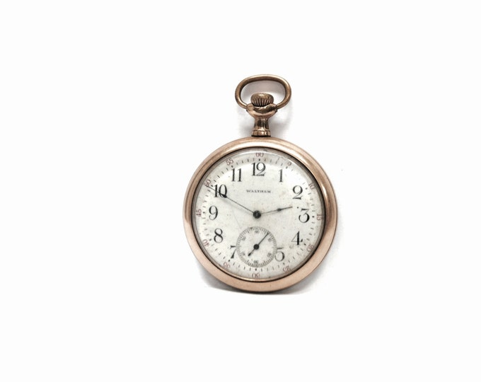 "A 19th Century Waltham 7 Jeweled Pocket Watch, 1894, 12S, Made in USA, Not Functional/For Restoration, 2.25"" diameter, Weighs 60g  #1860"