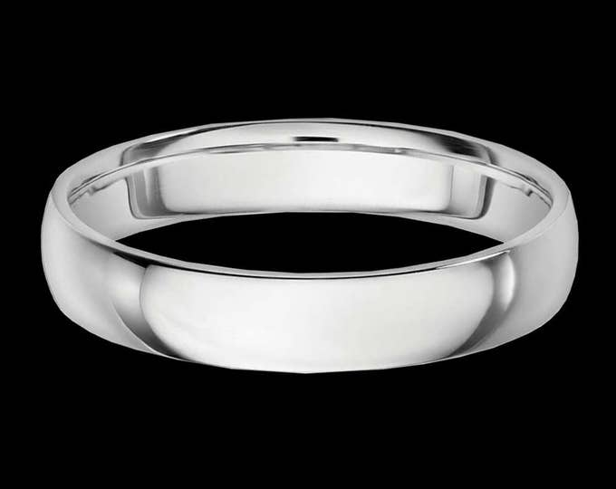 Bold Platinum Reflections In A High Polished Comfort Fit Wedding Band By C. L. Lewis (4MM)  #C104