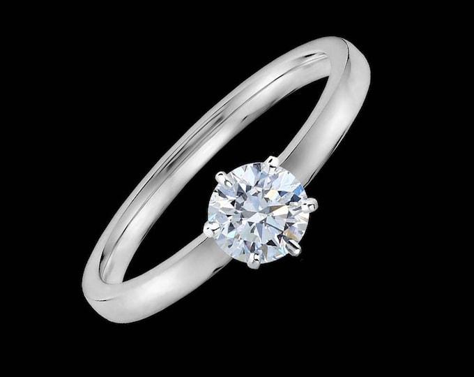 Internally Flawless 0.70 Carat GIA Certified Diamond Engagement Ring in 18K Yellow Gold