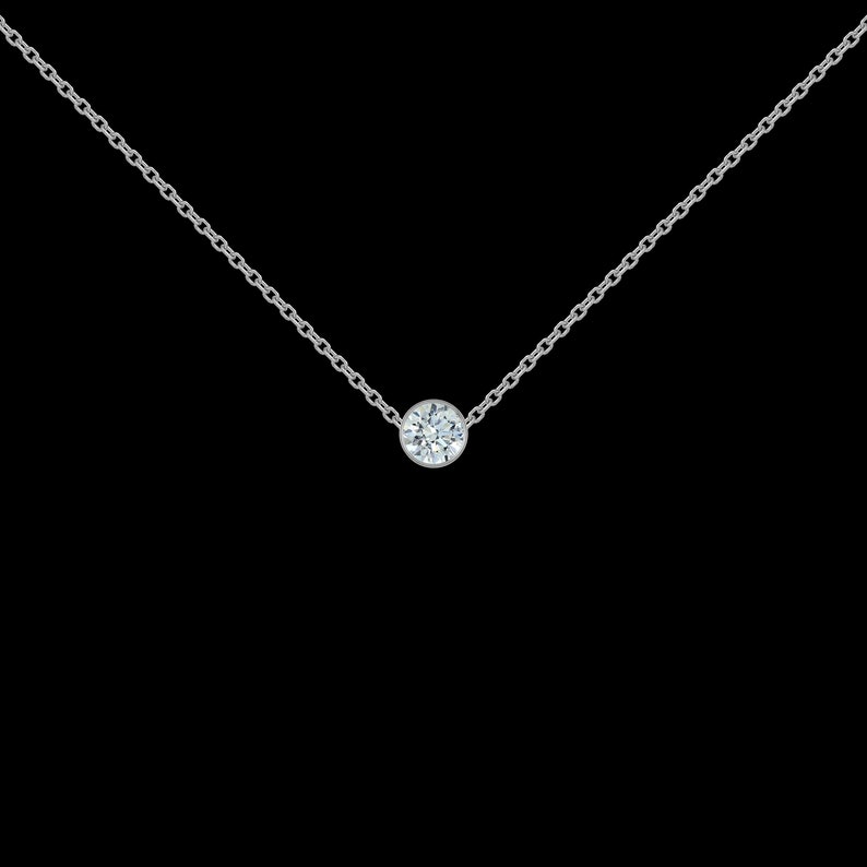 18 ct Diamond Necklace in 925 Sterling Silver