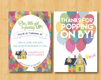 Music themed birthday party invitation with detachable tickets etsy up themed birthday party invitation and thank you cards package digital printable download filmwisefo