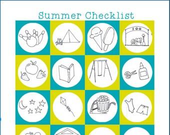 Summer Vacation Printable, Summer Holiday Activity List, Summer Vacation Activity List, Summer Holiday To Do List, Summer Break Bucket List