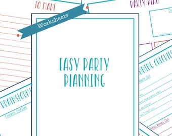 Kids Birthday Party Planner Template, Printable Kids Party Organizer, Party Planning Worksheets, Kids Event Planner, Kids Planning Checklist