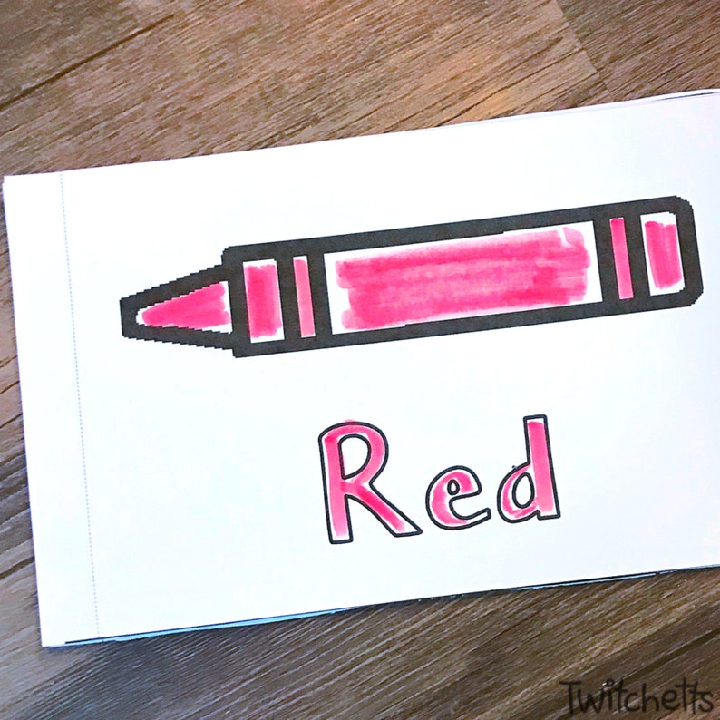Color Red Booklet Learning Games for preschoolers image 0