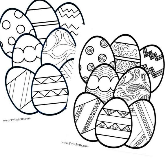 Printable Easter Egg Coloring Pages For Kids Printable Easter