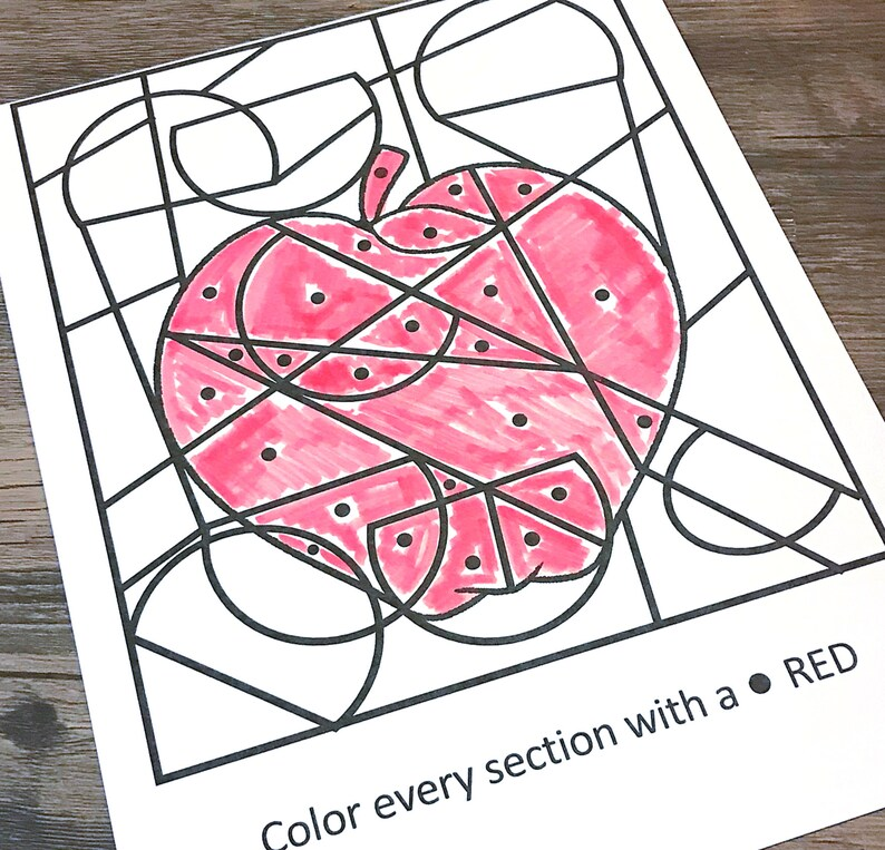 Color Red Dot Coloring Learning Games for preschoolers image 0