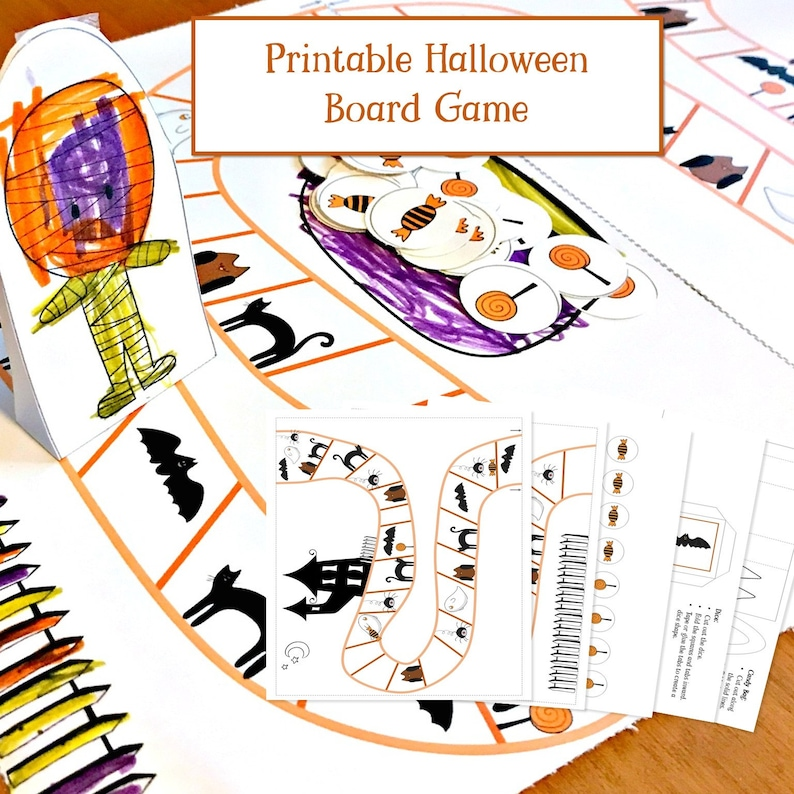 Good Halloween Board Game For 5 Year Olds, Kindergarten Game, Halloween  Printable, Printable Games, Cooperative Board Game, Trick Or Treat Game