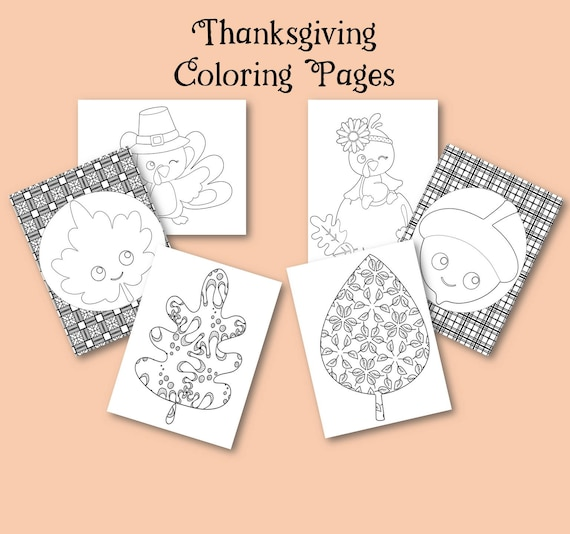 Thanksgiving Coloring Pages Thanksgiving Printable Screen Etsy