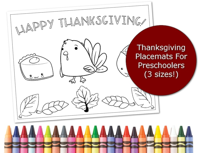 graphic about Printable Placemats for Preschoolers identify Thanksgiving Placemats for Little ones, Printable placemats for preschoolers, Coloring web page Space natural environment