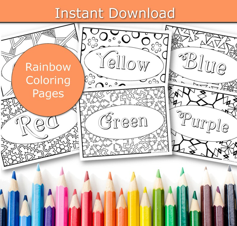 Rainbow Coloring Pages Screen Free Activities Preschool and image 0