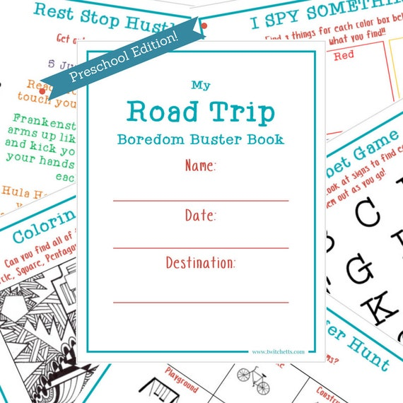 Travel Activity Book For Preschoolers Printable Kids Quiet Etsy
