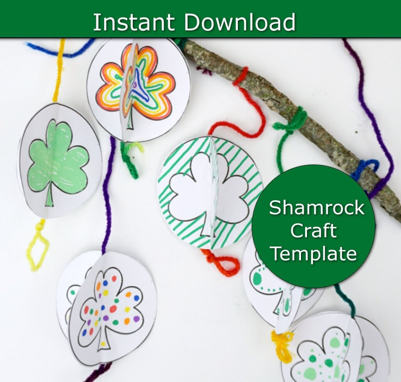 St Patrick S Day Projects For Kids St Patty S Day Etsy