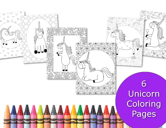 Unicorn Coloring Pages Coloring Pages For Kids Party Favors Printable Coloring Book Little Girl Coloring Sheets Colouring Activity