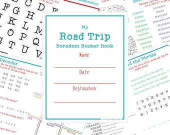 Kid Travel Game, Travel Activity for Kid, Road Trip Printable, Travel Games Printable, Travel Toys for Kids, Travel Games for Car, Road