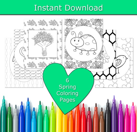 Spring Coloring Pages for Kids Spring Coloring Book Spring