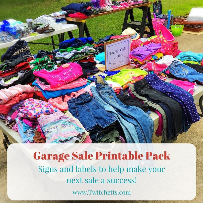 photograph about Printable Garage Sale Signs named Garage sale package, back garden sale printable pack, garage sale indications, rummage sale indications, garden sale indications, pricing labels, sale exhibit signs or symptoms