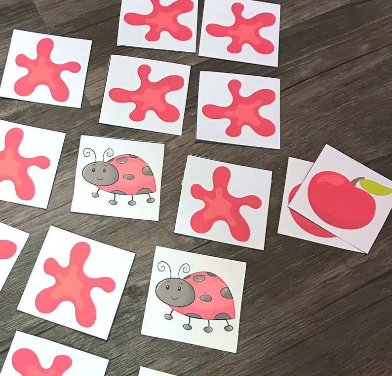 Color Red Matching Game Learning Games for preschoolers image 0