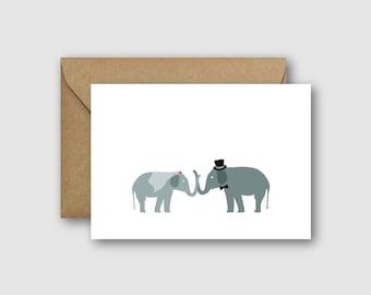 Elephant Wedding Card
