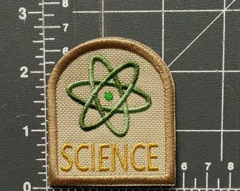 SCIENCE embroidered patch w  iron on backing   FREE SHIPPING to U.S. 08058ab29a9e
