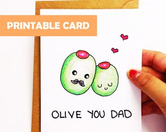 Printable Dad Card Etsy