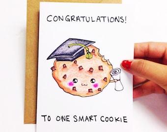 Graduation card funny, Funny graduation card, funny graduation congratulations card funny, cute graduation congrats card funny, smart cookie