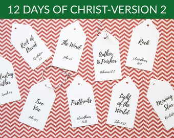 12 days of christ version 2 12 days of christmas gift idea digital download - 12 Days If Christmas
