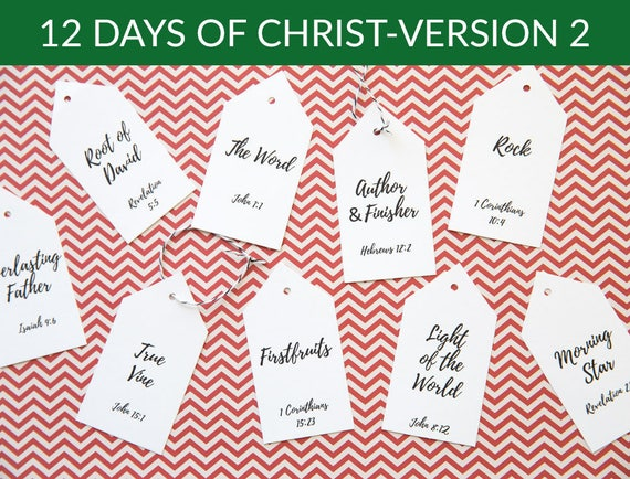 12 Days Of Christmas Gifts.12 Days Of Christ Version 2 12 Days Of Christmas Gift Idea Digital Download
