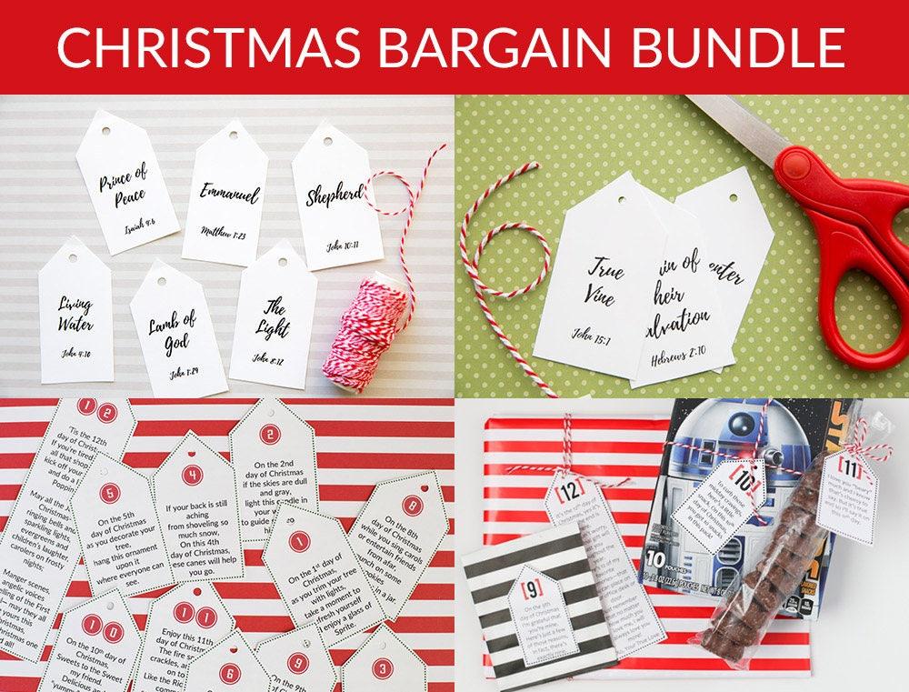 12 days of christmas tags bargain bundle - 12 Days Of Christmas Christian Version