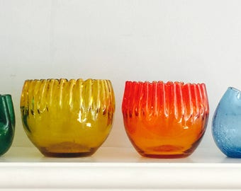 Four Stunning Blenko Vases by Winslow Anderson
