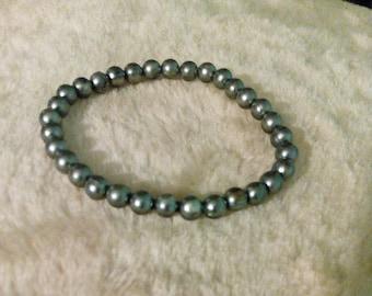 Medium Grey Purl Bracelet