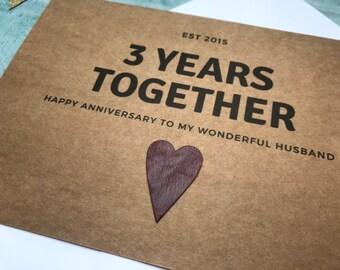 3year Wedding Anniversary.3 Year Anniversary Etsy
