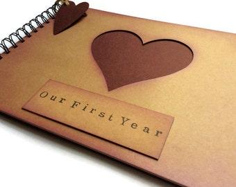d2fd432e3d First Year anniversary gift for boyfriend / girlfriend / husband / wife  unique present photo memory album scrapbook