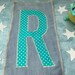 Kate McMillan reviewed custom iron on letters, fabric alphabet letters or numbers nearly 8 INCHES high (20cm) sew on or no sew applique monogram