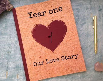 Year one of our love story journal scrapbook album