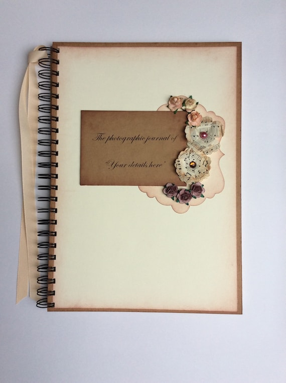 Shabby Personalised Chic PHOTO ALBUM//SCRAPBOOK//MEMORY BOOK Mother Of The Bride