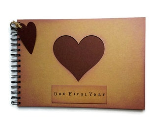 First Year anniversary gift for boyfriend, proposal gift for girlfriend, Valentines gift for husband, photo album scrapbook album