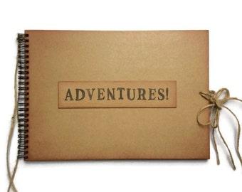Travel Scrapbook for a boyfriend, going away gift for him, memory book ADVENTURES photo album adventure book travel journal boyfriend gift