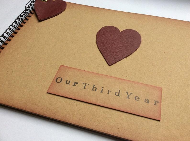 3038ff4943b46 Third year anniversary gift for husband wife girlfriend