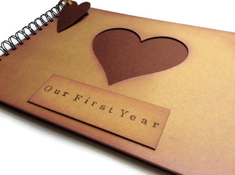 One Year First 1st Anniversary Gift For A Boyfriend Scrapbook Etsy