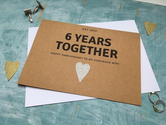 6th Anniversary Gift Personalized Six Year 6 Wedding Sixth Anniversary Gift