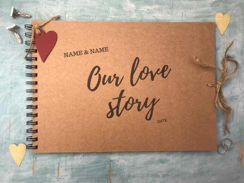 Personalised our love story scrapbook album couples scrapbook image 0