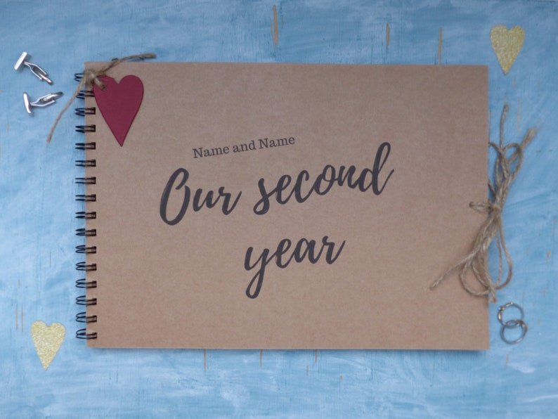 Personalised A4 1st Year Anniversary Memory Album Scrapbook Multi Use QUICK POST