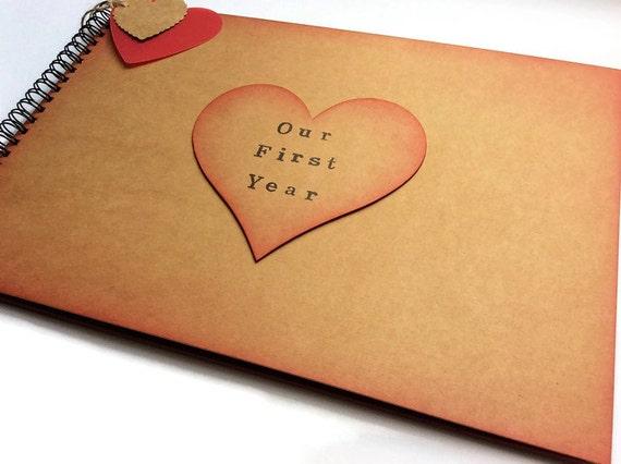 First Anniversary Wedding Gift: Boyfriend Scrapbook Album / 1st Anniversary Gift / First