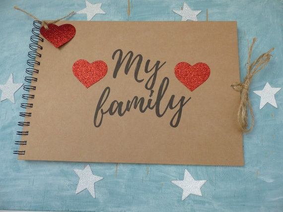 PHOTO ALBUM//SCRAPBOOK//MEMORY BOOK PERSONALISED happy ever after A5 SIZE