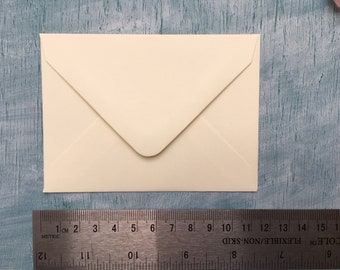 Mini envelopes, small cream envelopes, C7 ivory cream envelopes, C7 cream envelopes for envelope guestbooks