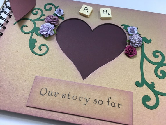 PERSONALISED ANNIVERSARY MEMORY ALBUM SCRAPBOOK QUICK POSTING A5 OR A4