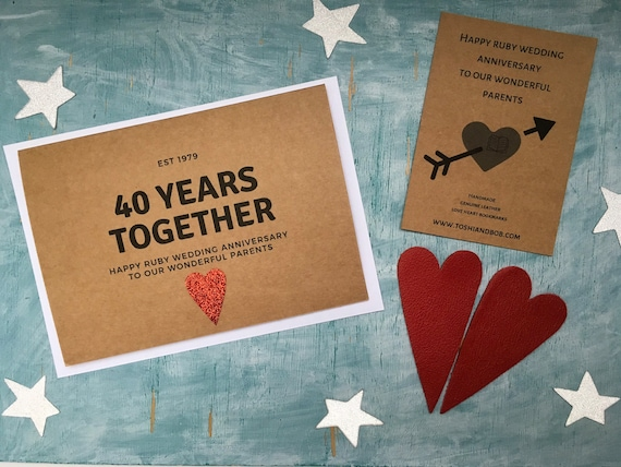 For Our Ruby Wedding Anniversary Traditional Card 40th On