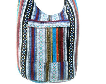 Crossbody Bag Bohemian Bag Hobo Bag Hippie Bag Messenger Shoulder Bag Purse Handbag boho Gift Thai Bag Handmade Everyday Bag Gift Multicolor